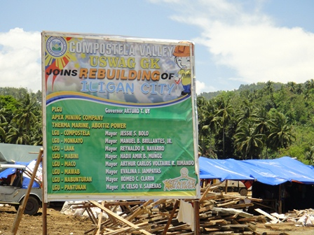 provincial employees build houses for sendong victims in